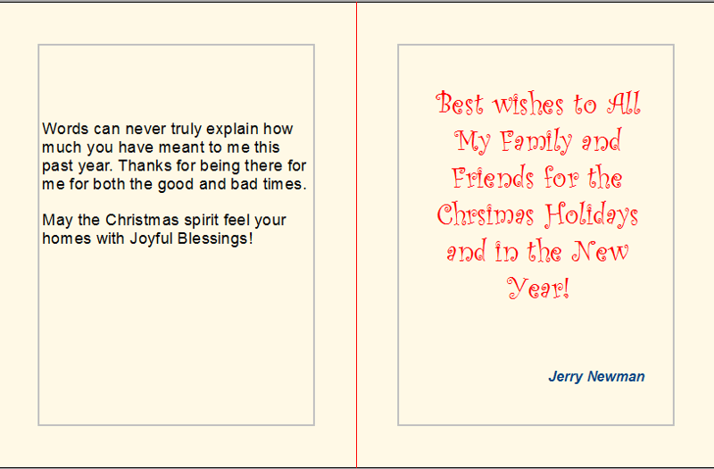 Holiday greeting card to family and friends inside of the christmas greeting card m4hsunfo
