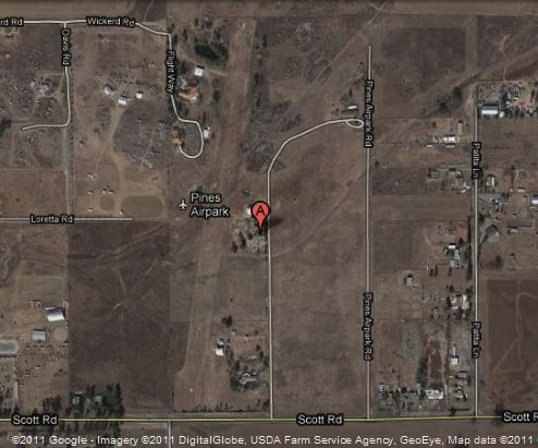 8CA5 Pines Airpark, Winchester CA map