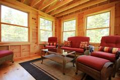enclosed cedar porch