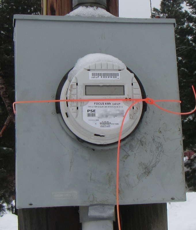 Electrical meter that has been tampered with. Kittitas Home Inspection
