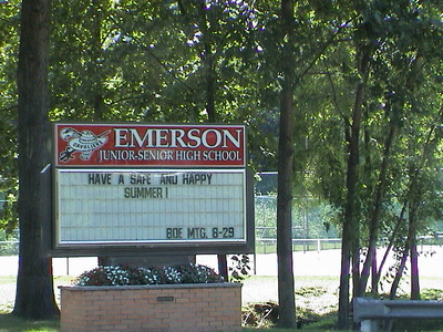 Emerson High School Sign