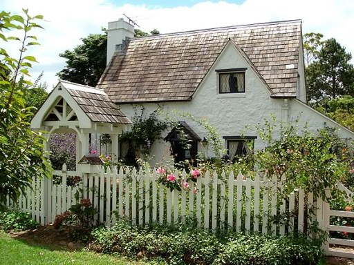 Charming White picket fence cottage