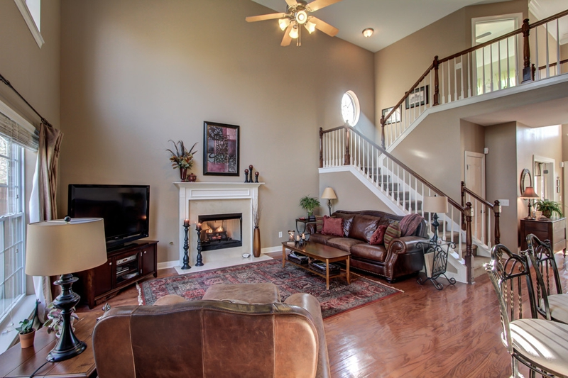Franklin tn home with two master bedroom suites open for 2 story great room floor plans