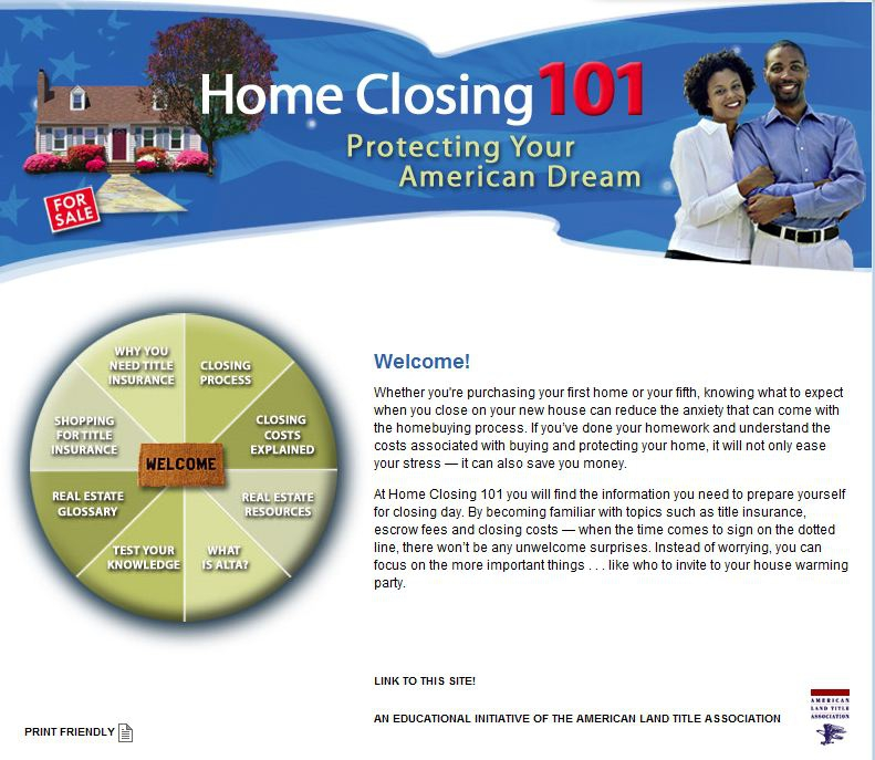 Home Closing 101 - A Great Reference Site for Home Buyers!