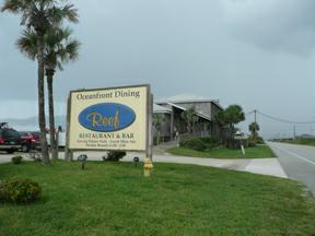 The Reef Sign and Building