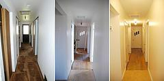 Buying foreclosure home to fix up and live in?  before and after: hallway by : guiniveve photo courtesy of flickr.com