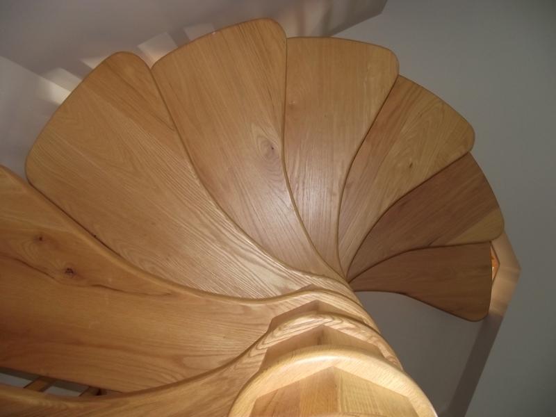 Looking up at a circular stair