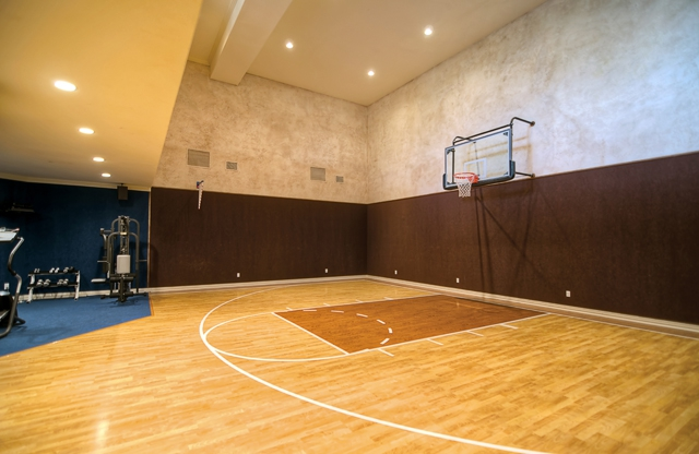 A truly gorgeous mediterranean masterpiece fort worth for Indoor basketball court installation