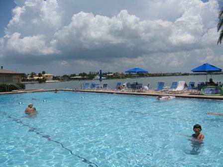 Pool at the St Pete Beach Yacht and tennis Club