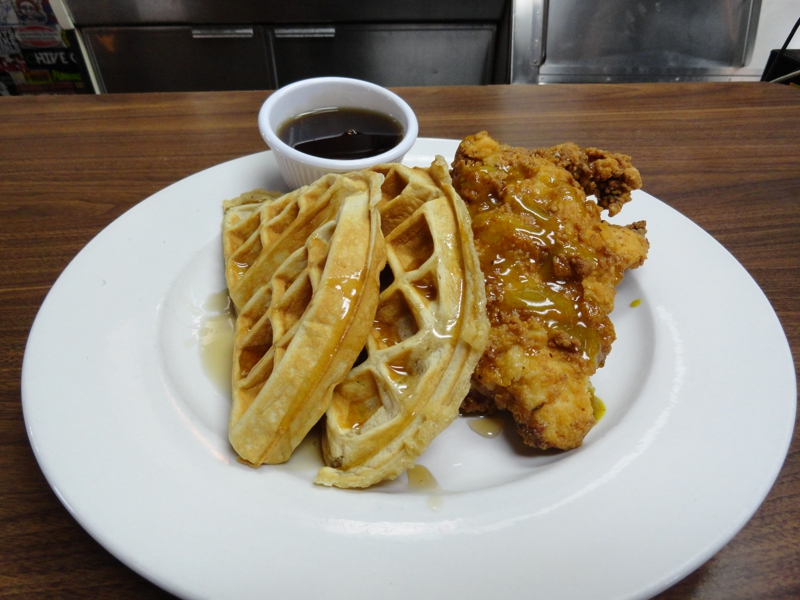 Chicken and Waffle at Early Bird Diner, Charleston, SC
