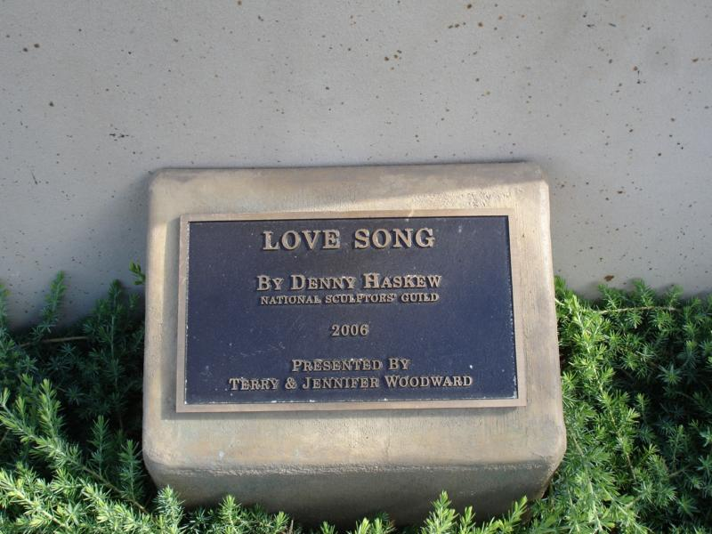 The Love Song Plaque Owensboro,Kentucky