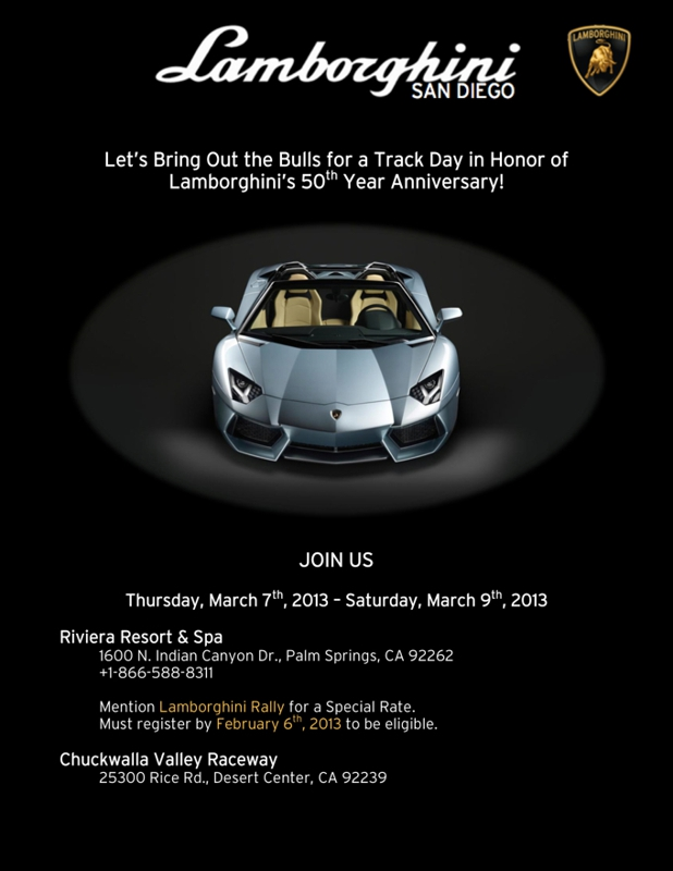 Lamborghini 50th Anniversary Event Takes Cars To Track In Palm Springs