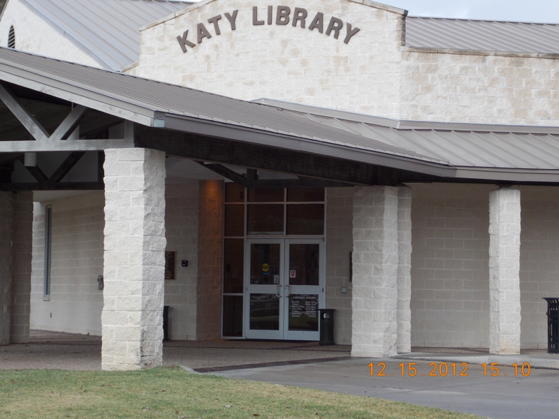 Front of Katy Branch Library