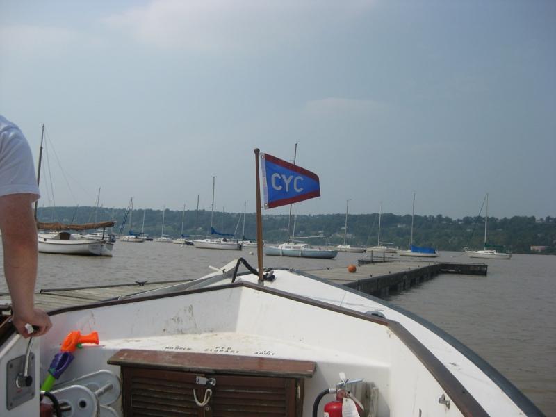 motoring to boat