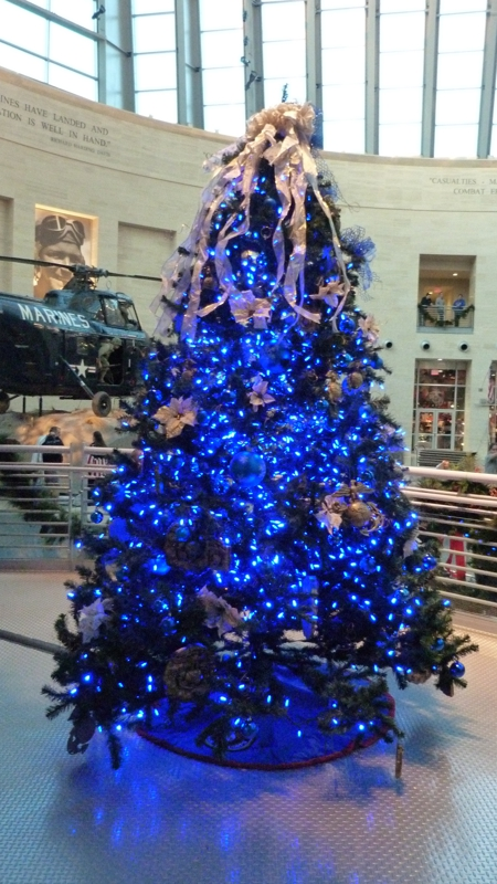 Christmas Tree At National Museum of the Marine Corps 2012