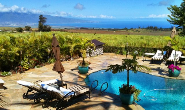 views from a Makawao Maui HI home for sale