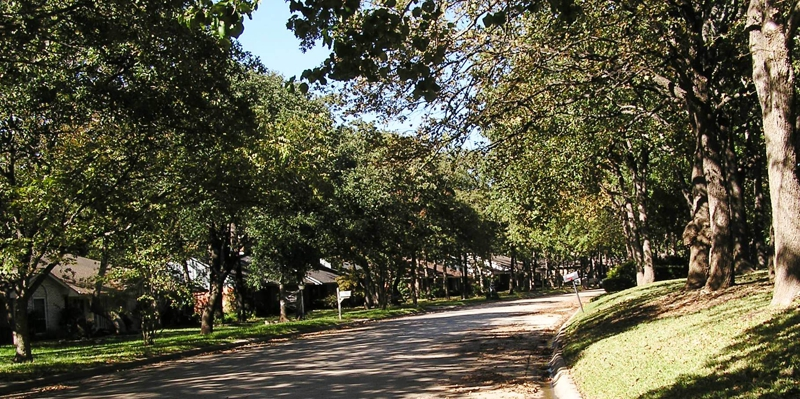 When looking for homes for sale in Denton, look at the shaded streets of Southridge