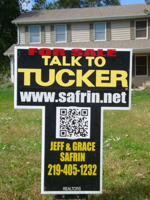QR Codes on Real Estate Signs in NW Indiana Talk To Tucker