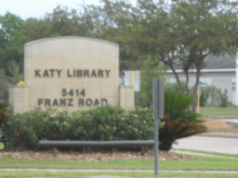 Sign for Katy Library Katy Texas