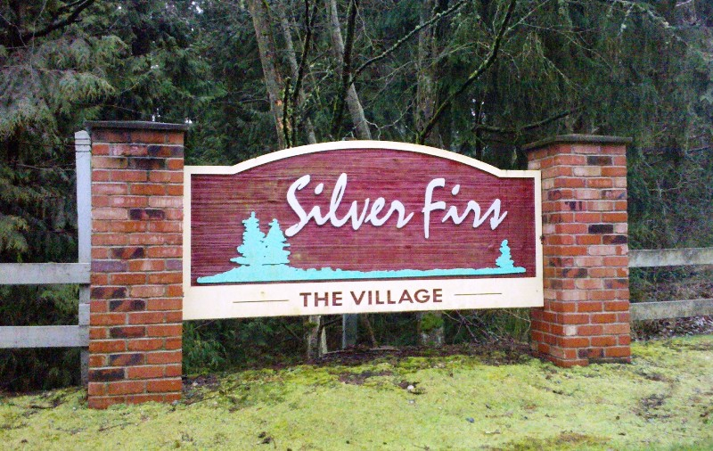 Silver firs community sign - everett wa