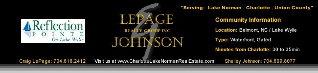 Reflection Point Homes for Sale / Belmont NC Luxury Waterfront Gated boating