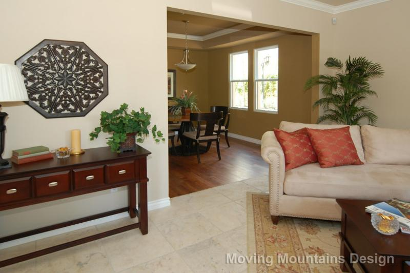 Pasadena living room after staging