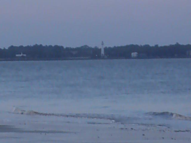 across sound to ssi at sunset