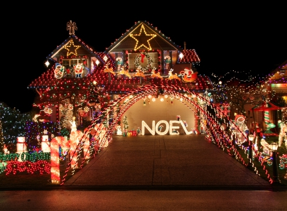 Christmas decorations East Lake Village Yorba Linda, California