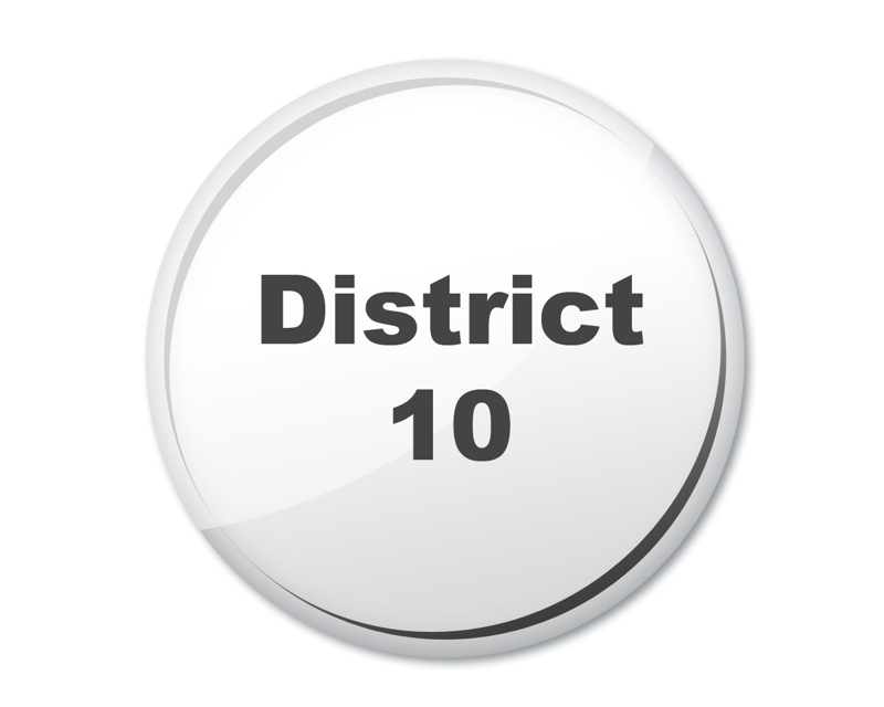 district 10 button