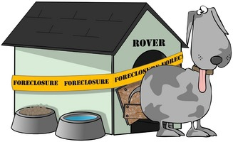 rover and foreclosed dog house