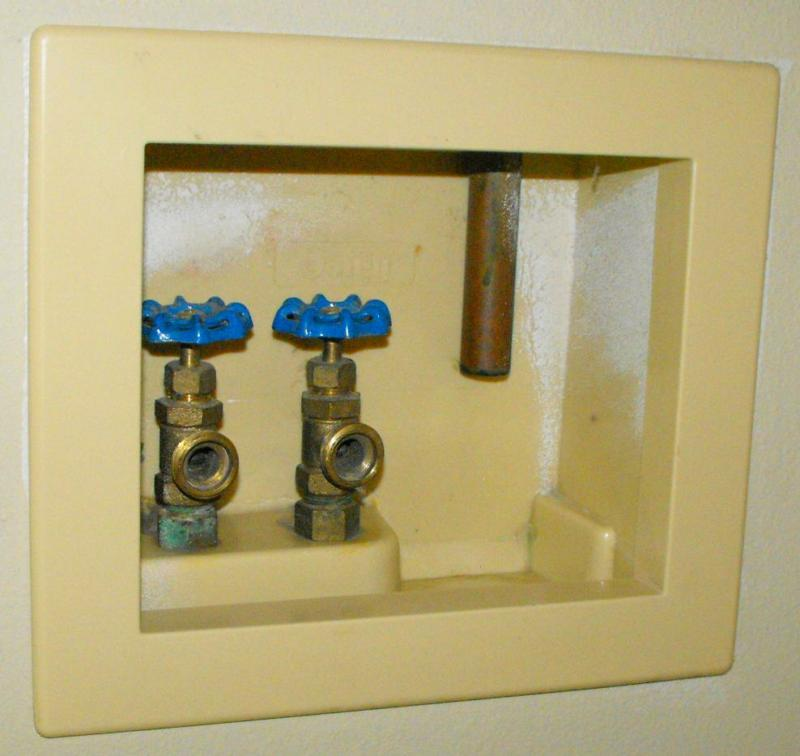 TPRV drain terminated at the laundry hook-up