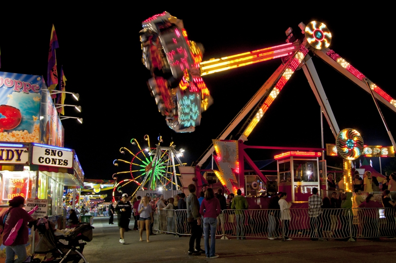 North Georgia State Fair Midway Night Photography by Real Estate Photographer Iran Watson Real Estate Agent in Marietta GA 770-363-3350
