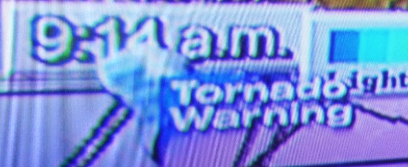Tornado Warning on TV