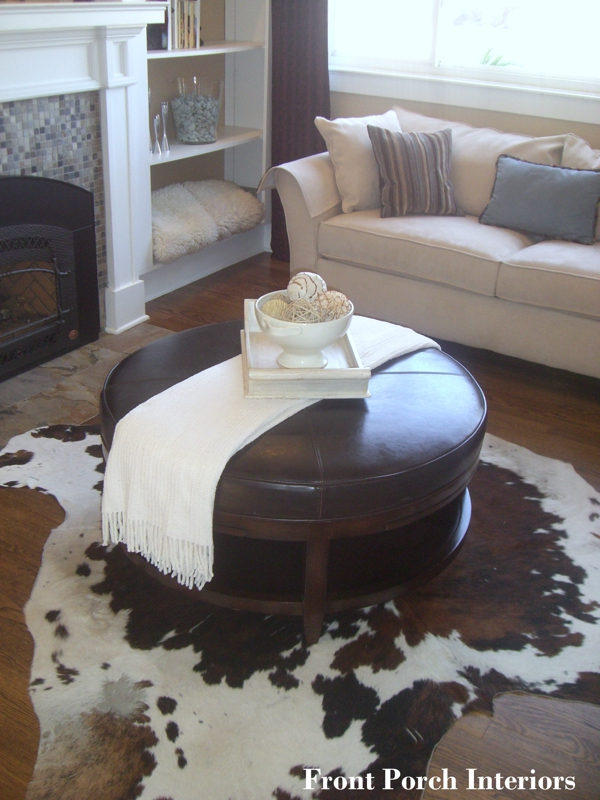 Staging with cowhide yea or nay for Cowhide decorating ideas