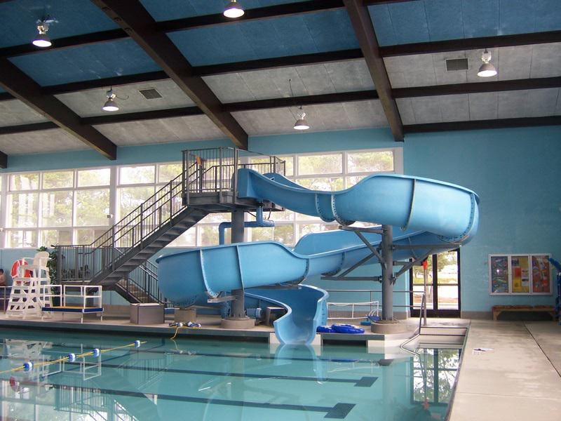 simple cool indoor pools with slides swimming and waterfalls - Cool Indoor Pools With Slides