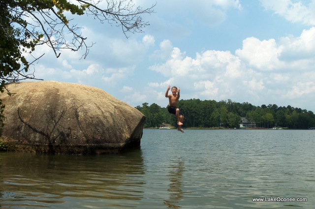 Lake Oconee Rock Jumping