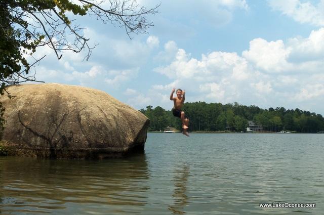 Lake Oconee Rock Jumping
