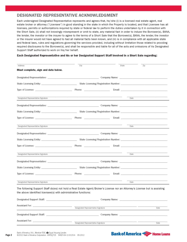 bank of america forms pdf