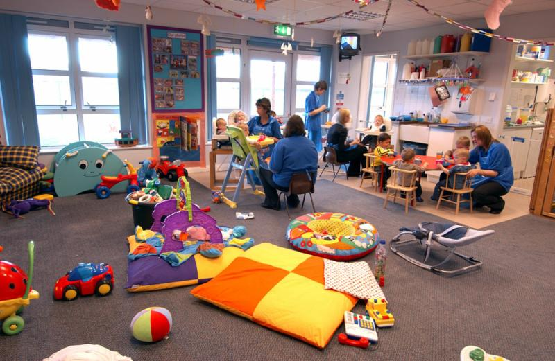 pictures of a daycare center