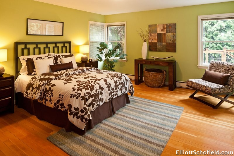 Master Bedroom staged by Synergy Staging