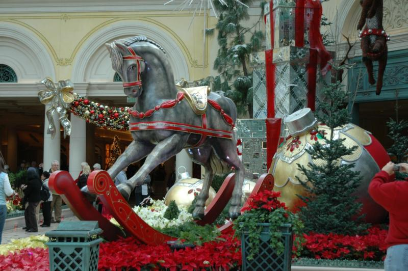 Christmas decorations at The Bellagio Hotel