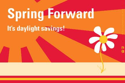 Spring Forward ecard