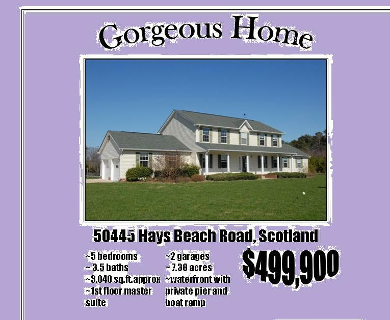 waterfront home for sale in scotland st mary 39 s county md deep creek water