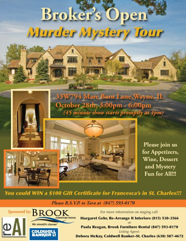 Staged Home In Wayne Il A Real Murder Mystery