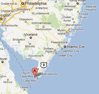 Google Map-Cape May Point State Park