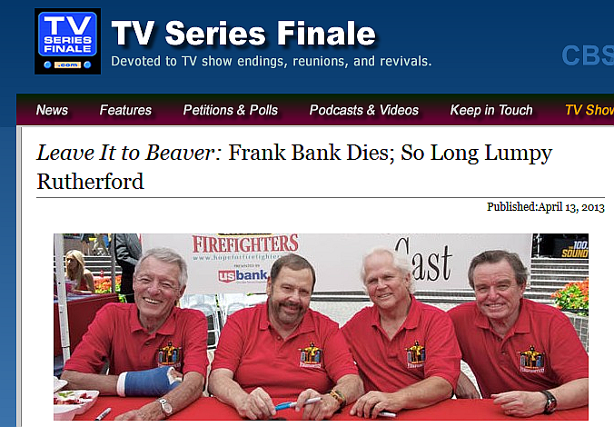 Frank Bank Leave It To Beaver