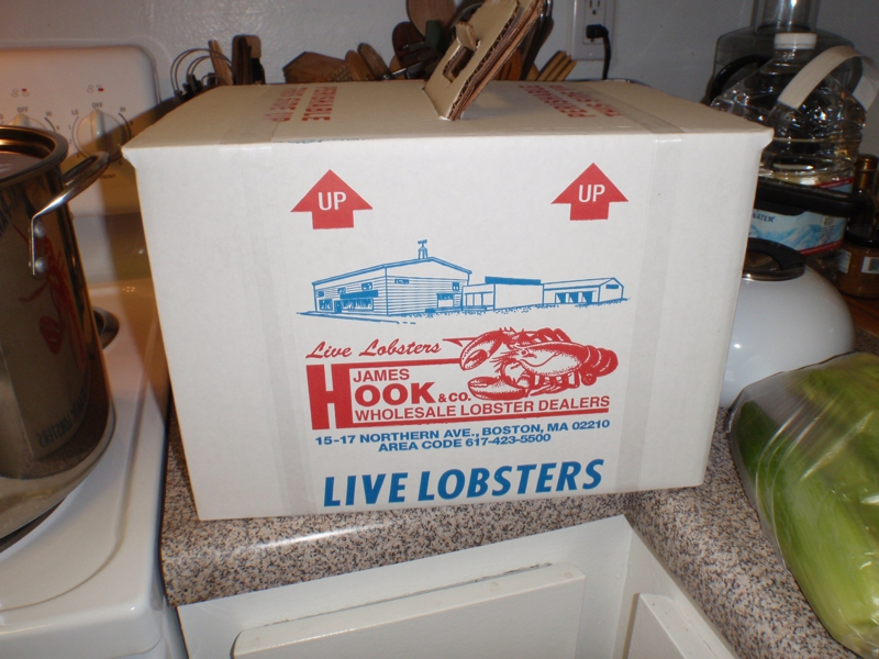 Flight Ready Live Lobsters from James Hook & Co. Boston MA