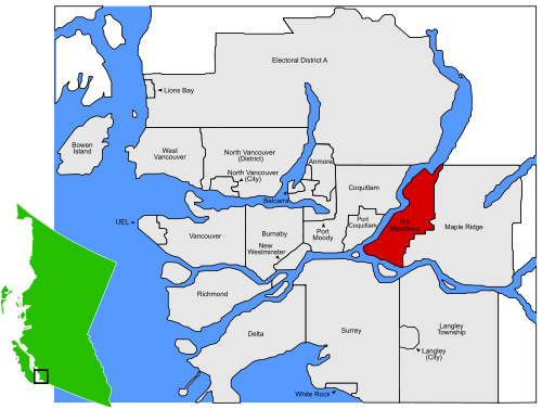 Pitt Meadows map
