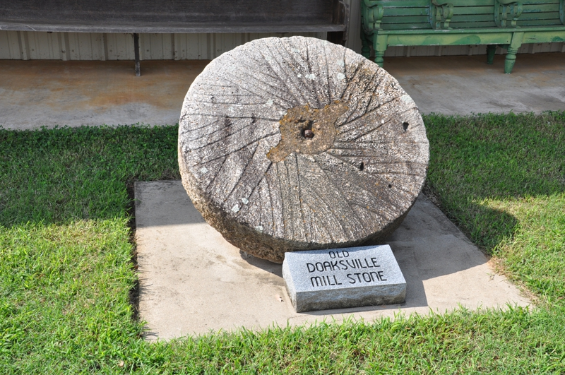 Millstone used at Doaksville