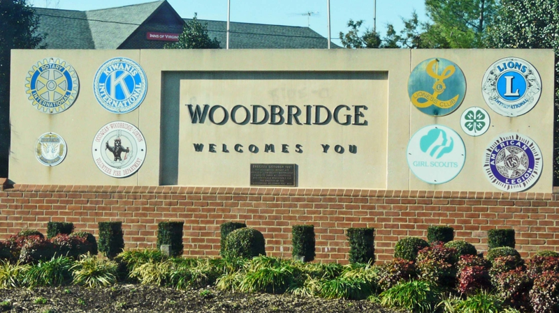Woodbridge VA Welcome Sign